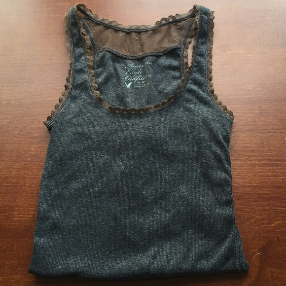 American Eagle Outfitters Tops - American Eagle Grey Racerback Tank Top